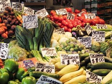 Veggies at Seattle Public Market
